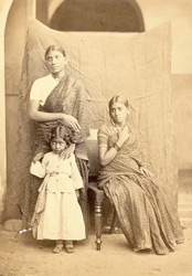 Group of two South Indian woman and a child, Madras. 4332